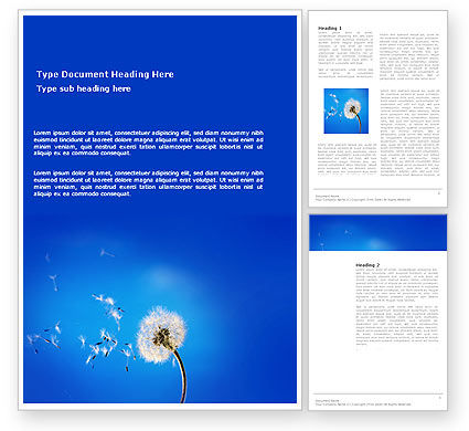Nature & Environment: Blowball Word Template #03508