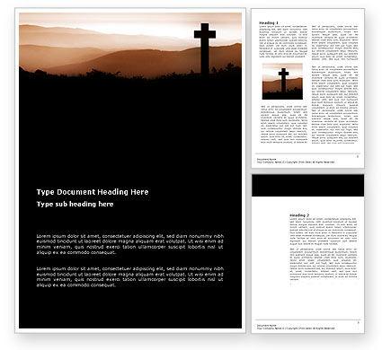 Memento Mori Word Template, 03510, Religious/Spiritual — PoweredTemplate.com