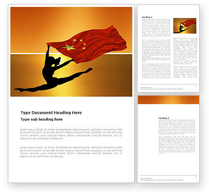 Olympiad in China Word Template, 03511, Sports — PoweredTemplate.com