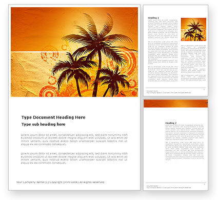Nature & Environment: Tropic Word Template #03513