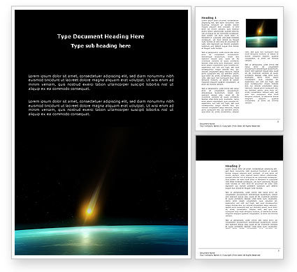 Nature & Environment: Meteor Word Template #03514