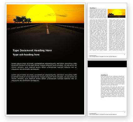 Construction: Sunset Highway Word Template #03518