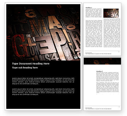 Careers/Industry: Typefaces Word Template #03520