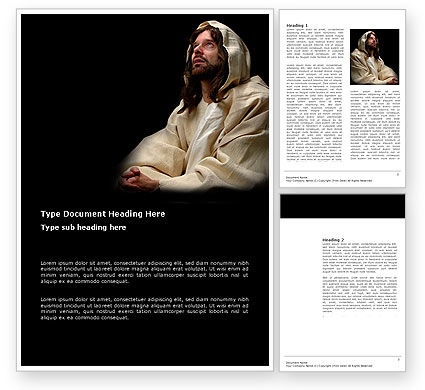Believer Word Template, 03521, Religious/Spiritual — PoweredTemplate.com