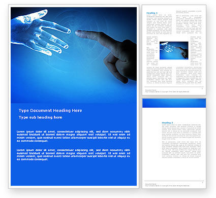 People and Technology Word Template, 03524, Technology, Science & Computers — PoweredTemplate.com