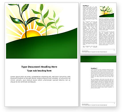 Nature & Environment: Growing Word Template #03531