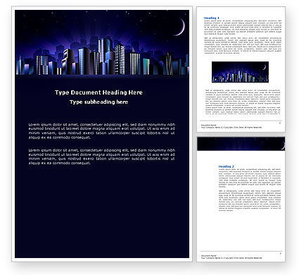 Construction: Night City Word Template #03533