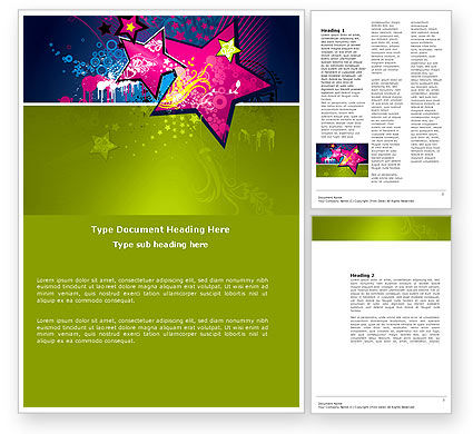 Holiday/Special Occasion: Graphic Design Word Template #03537