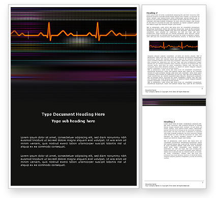 Electrocardiography Word Template, 03538, Medical — PoweredTemplate.com