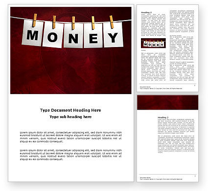 Money Cleaning Word Template, 03541, Financial/Accounting — PoweredTemplate.com