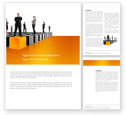 Leadership Training Progress Word Template, 03542, Business Concepts — PoweredTemplate.com