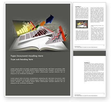 Diagram In The Book Word Template, 03544, Consulting — PoweredTemplate.com