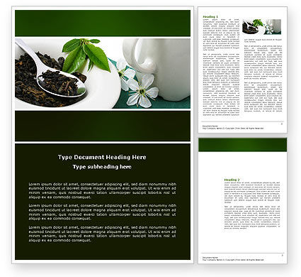 Food & Beverage: Green Tea Ceremony Word Template #03551