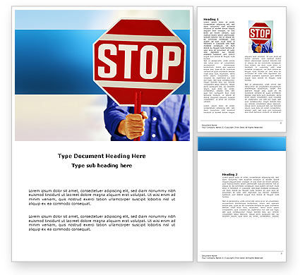 Abstract/Textures: Stop Word Template #03554