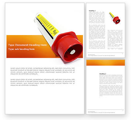 Flow Meter Word Template, 03558, Consulting — PoweredTemplate.com