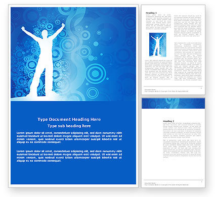 Business Concepts: Creativity In Blue Word Template #03561