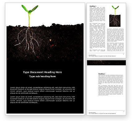 Nature & Environment: Life Sprouts Word Template #03562