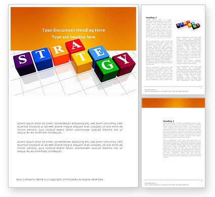 Business Concepts: Strategy Word Template #03563