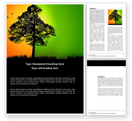 Summer and Autumn Word Template, 03566, Nature & Environment — PoweredTemplate.com