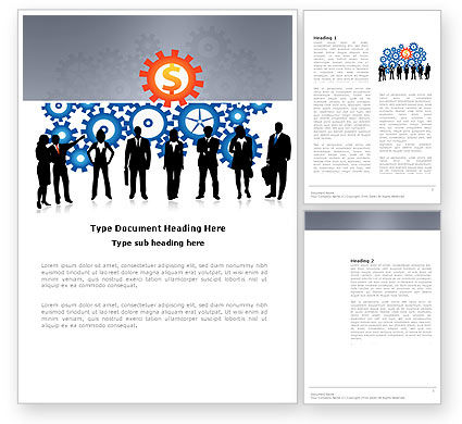Business Workers Word Template, 03578, Consulting — PoweredTemplate.com