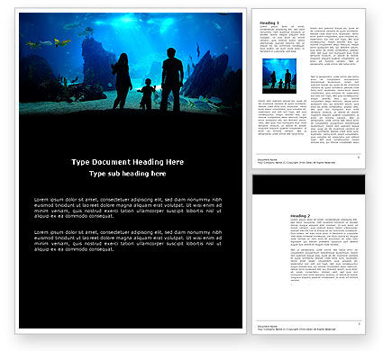 Oceanarium Word Template#1