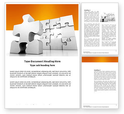 Business Puzzle Word Template, 03587, Business Concepts — PoweredTemplate.com