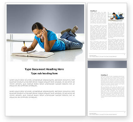 Education & Training: Call By Phone Word Template #03589