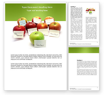 Apple for Teacher Word Template#1
