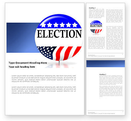 USA Elections Word Template