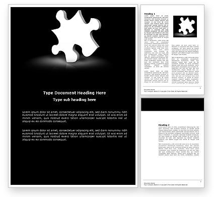 White Piece Word Template, 03597, Business Concepts — PoweredTemplate.com