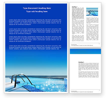 Swimming Pool Word Template