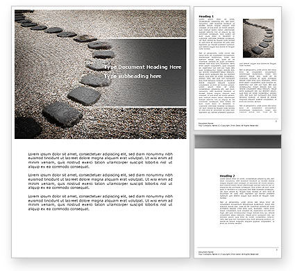 Business Concepts: Winding Road Word Template #03602