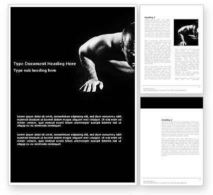 Men Sport Word Template, 03606, Sports — PoweredTemplate.com