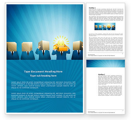 Brainstorming Session Word Template, 03611, Business — PoweredTemplate.com