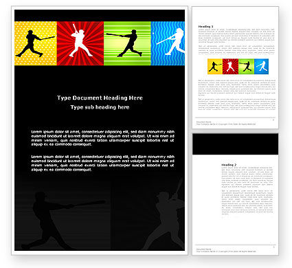 Baseball Bat Hit Word Template, 03612, Sports — PoweredTemplate.com