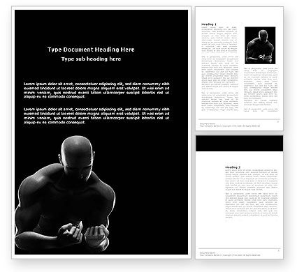 Sports: Bodybuilder Word Template #03613