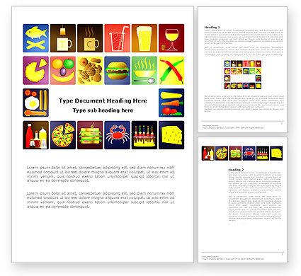Fast Food Ingredients Word Template, 03614, Food & Beverage — PoweredTemplate.com