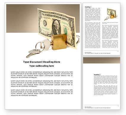 Financial/Accounting: Money Savings Word Template #03616