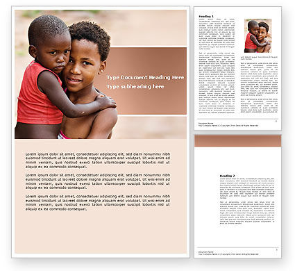 Refugees Word Template, 03619, People — PoweredTemplate.com