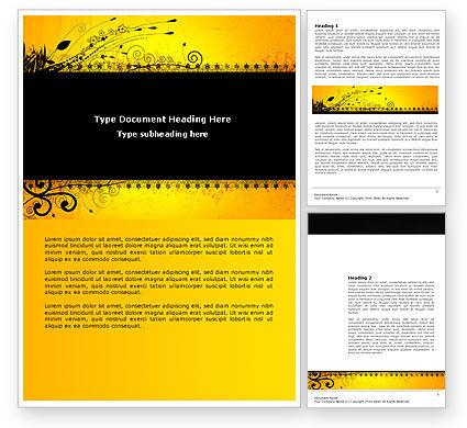 Abstract/Textures: Templat Word Panel Yang Didekorasi #03625