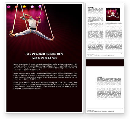 Art & Entertainment: Circus Gymnast Word Template #03626