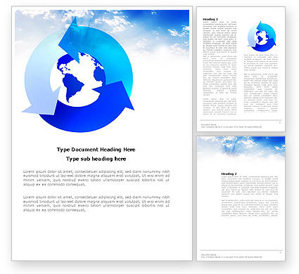 Global: Global Recycle Word Template #03628