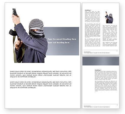 Terrorist Word Template, 03632, Military — PoweredTemplate.com