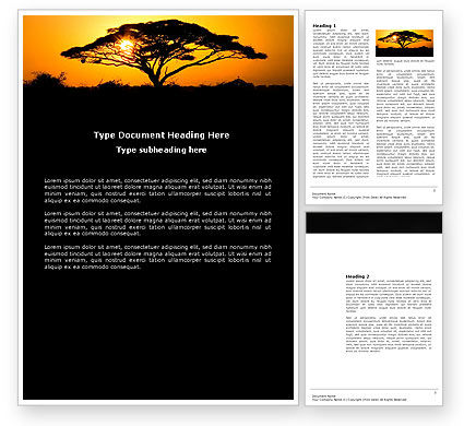 Nature & Environment: Baobab Word Template #03635