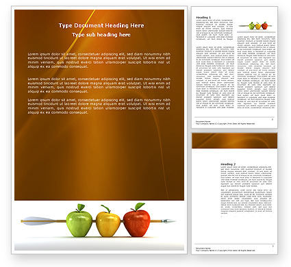 Business Concepts: Reaching the Aim Word Template #03639