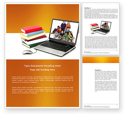 Education & Training: Computer Study Word Template #03659