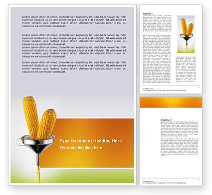 Corn Oil Word Template, 03664, Careers/Industry — PoweredTemplate.com
