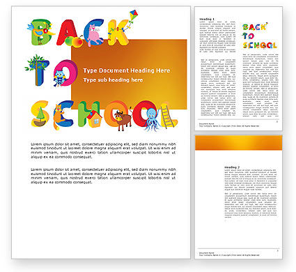 Education & Training: Back to School Season Word Template #03670