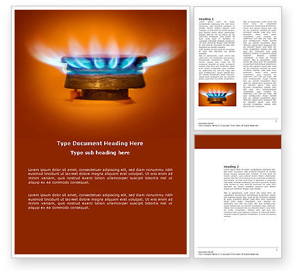 Gas Stove Word Template, 03675, Careers/Industry — PoweredTemplate.com