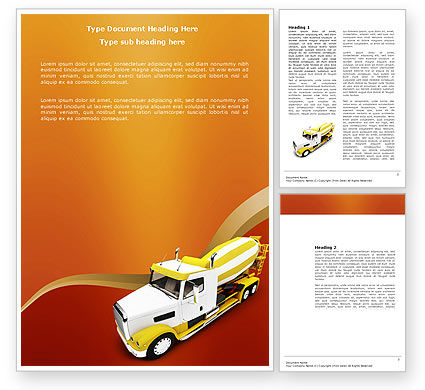 Cars/Transportation: Concrete Mixer Word Template #03679